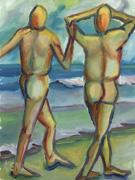 figures beach painting