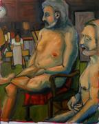 bearded men oil painting