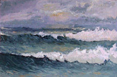 seascape ocean waves painting