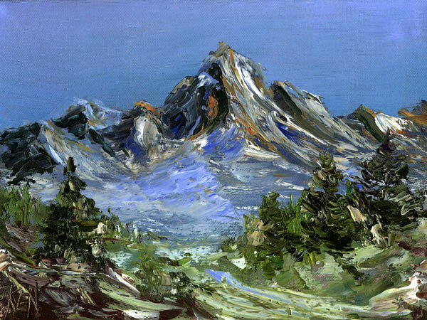 landscape oil painting blue butte