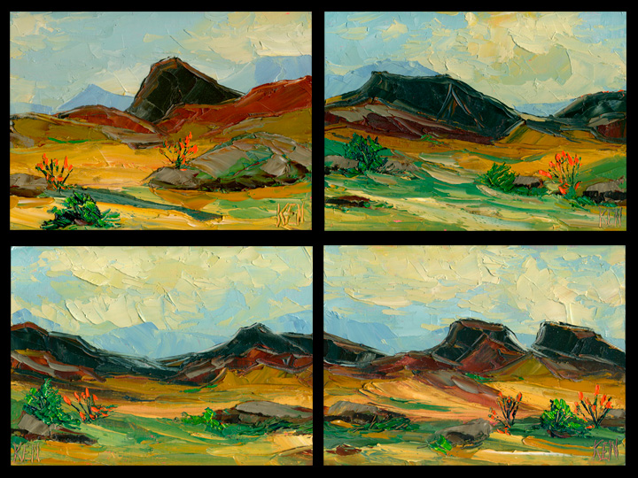 DESERT IMPRESSION PAINTINGS