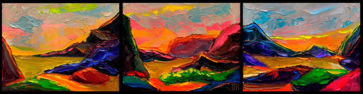 desert landscape expressionism painting