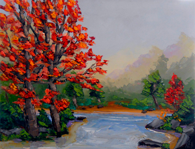 landscape expression oil painting