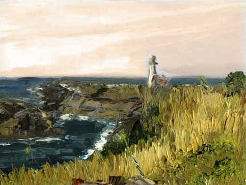 Oregon Lighthouse Oil Painting
