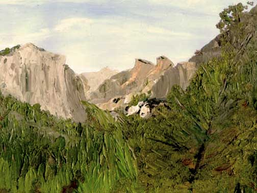 Yosemite National Park Oil Painting