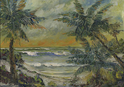 florida highwaymen art style painting