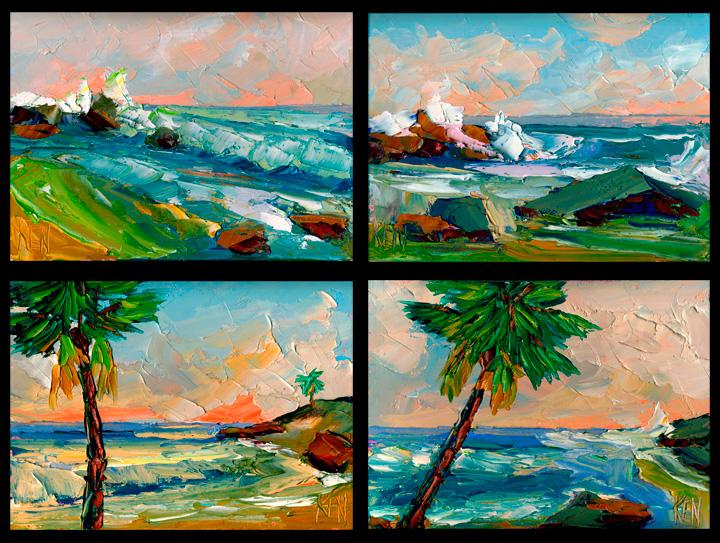 beach art painting