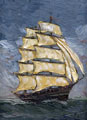 old clipper sailing ship