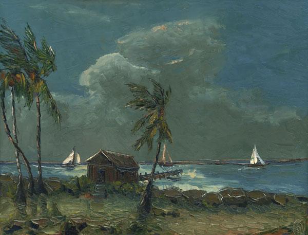 dusk sail seascape oil painting