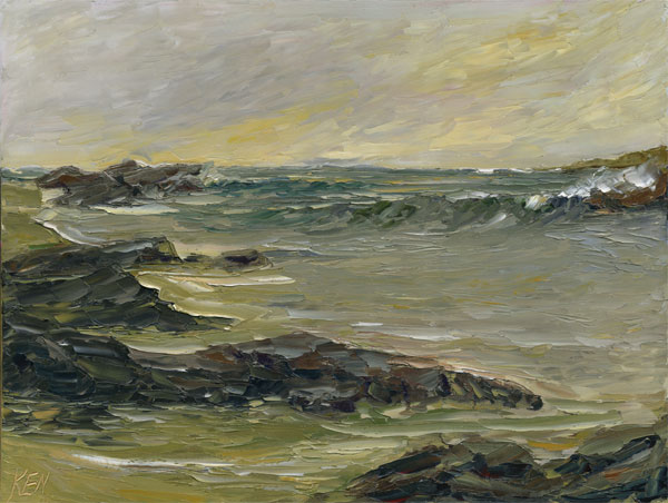 Pacific Coast Oil Painting