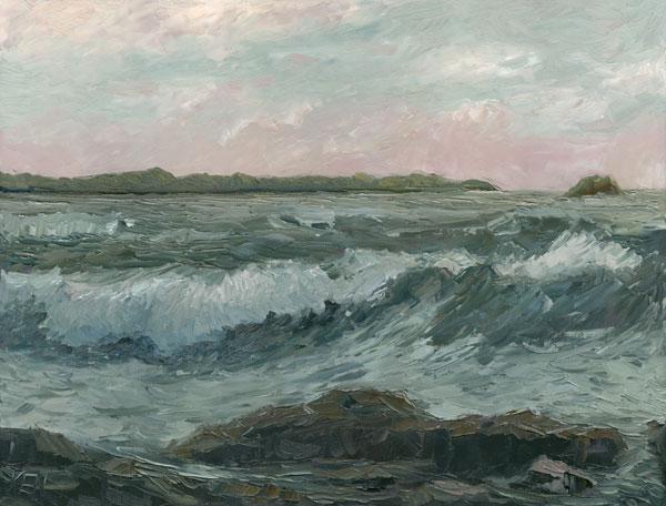 pacific ocean oil painting