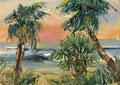 Coastal Palms Oil Paintings