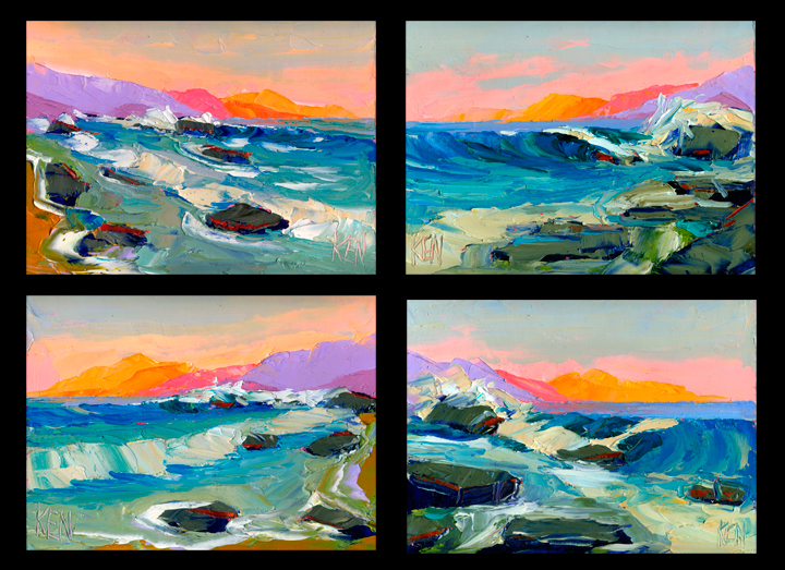 Pacific Ocean seascape painting