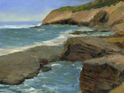 point loma plein air oil painting