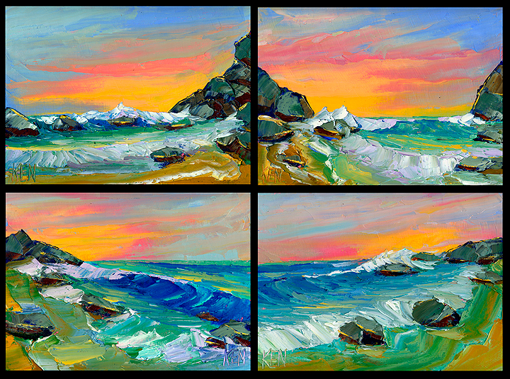 seascape sunset paintings