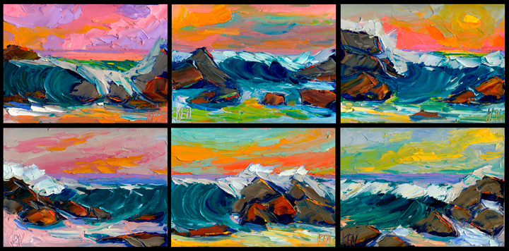 sunset seascape paintings
