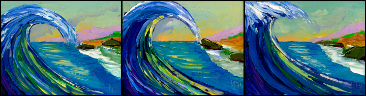 WAVES BREAKING PAINTINGS
