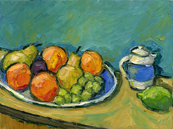 Fruit Plate Impression Oil Painting Still Life