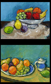 fruit still life impressionist