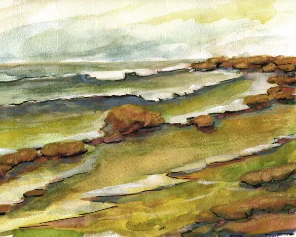 Seascape Watercolor