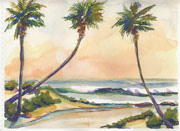 seascape watercolors paintings